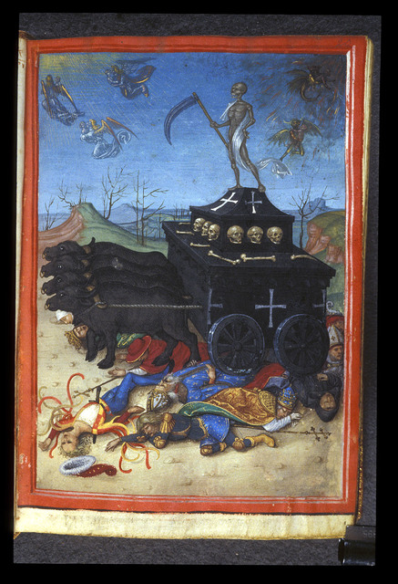 Triumph of Death from BL Harley 2953, f. 20