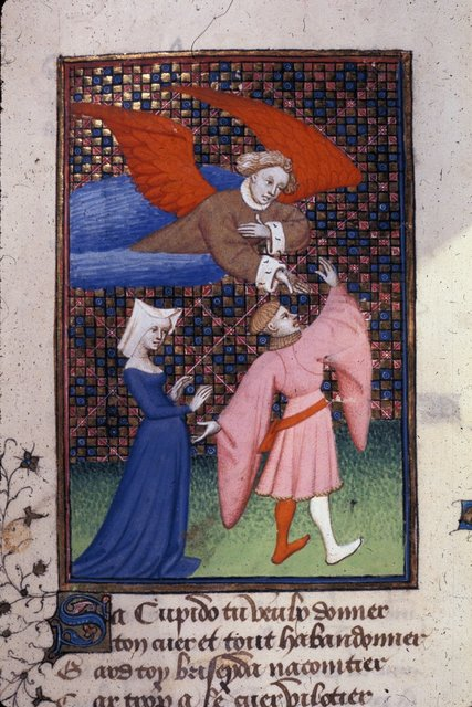 Troilus and Briseis from BL Harley 4431, f. 133v