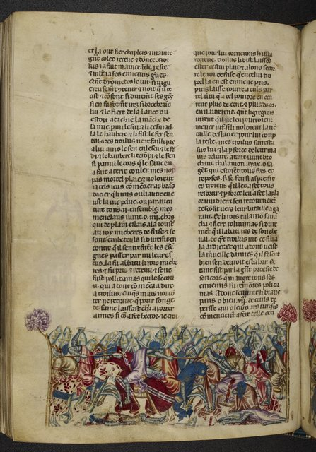 Troilus and Diomedes from BL Royal 20 D I, f. 111v