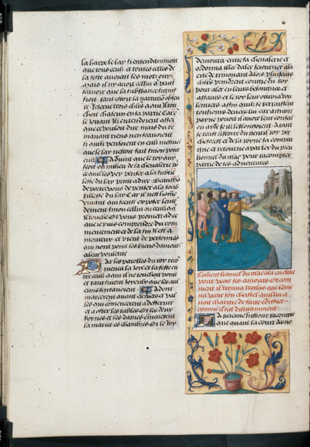 Troilus and Lionnel from BL Royal 19 E II, f. 54v