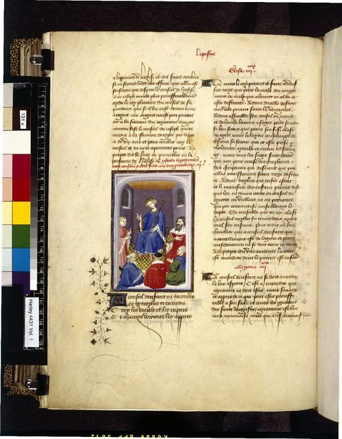 Troilus and Priam from BL Harley 4431, f. 131v