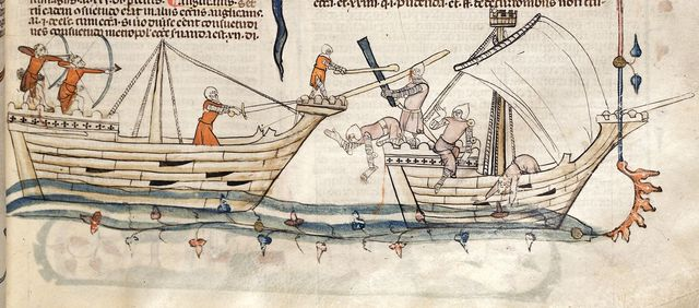 Two ships from BL Royal 10 E IV, f. 19