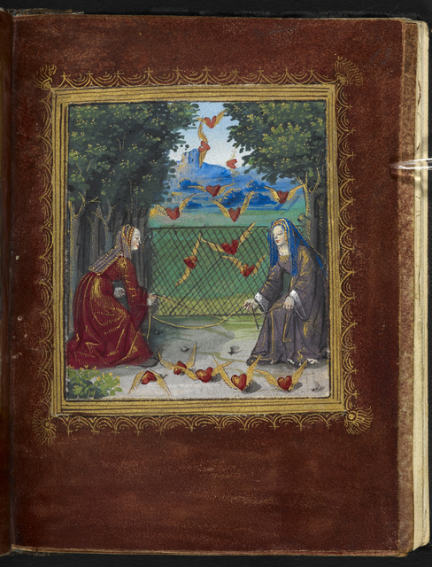 Two women from BL Stowe 955, f. 13
