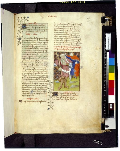 Ulysses and the Cyclops from BL Harley 4431, f. 105