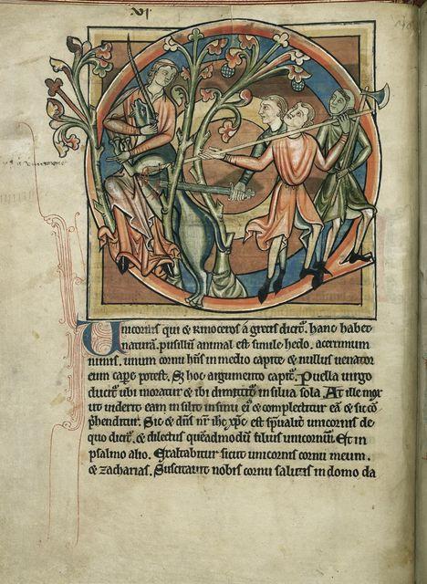 Unicorn from BL Harley 4751, f. 6v
