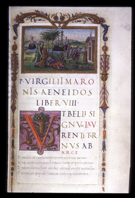 Venus and Aeneas from BL King's 24, f. 164