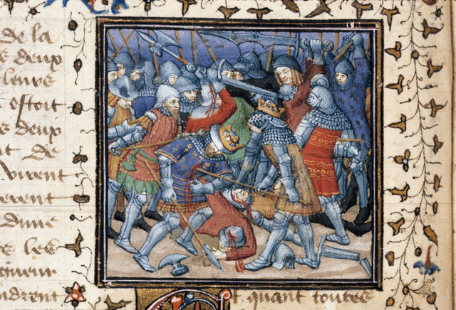 Victory of Alexander from BL Royal 20 B XX, f. 13v
