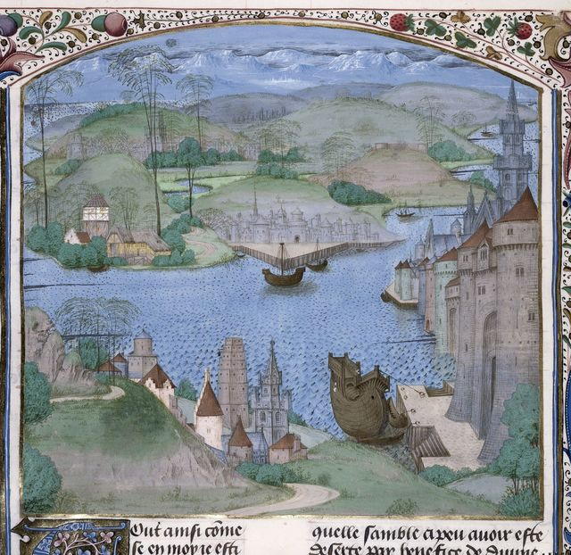 View of England from BL Royal 15 E IV, f. 24v