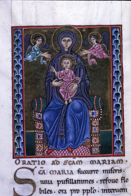 Virgin and Child from BL Eg 1139, f. 202v