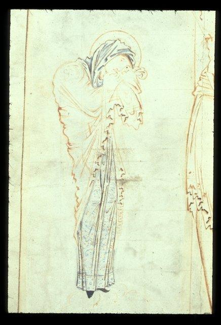 Virgin Mary from BL Harley 2904, f. 3v