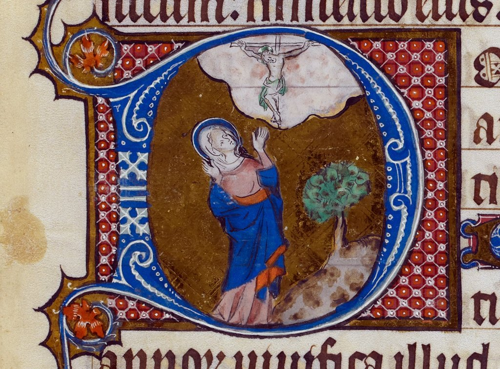 Virgin Mary from BL Royal 2 B VII, f. 286