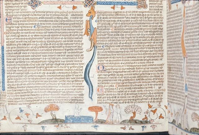 Virgin raising man from BL Royal 10 E IV, f. 214v