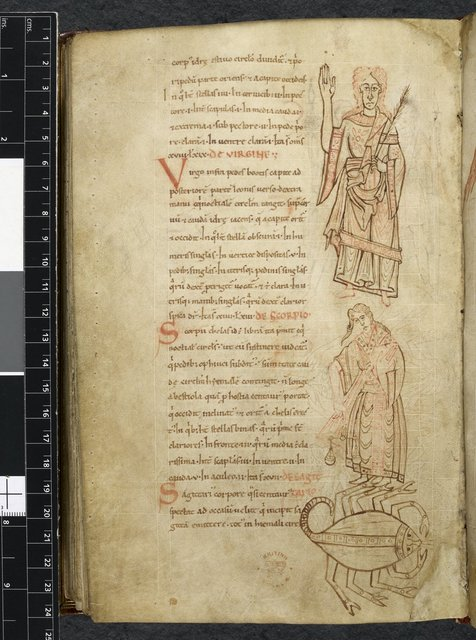 Virgo, Libra and Scorpio from BL Royal 13 A XI, f. 109v