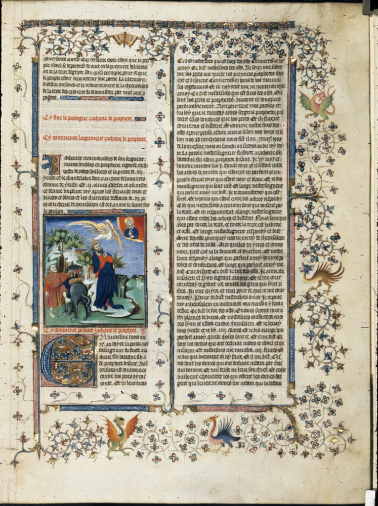 Vision of Zechariah from BL Royal 15 D III, f. 406