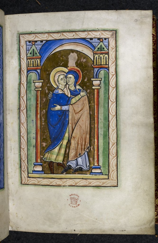 Visitation from BL Royal 2 A XXII, f. 13