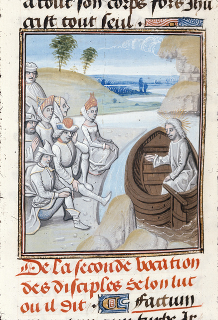 Vocation of the apostles from BL Royal 15 D I, f. 263v