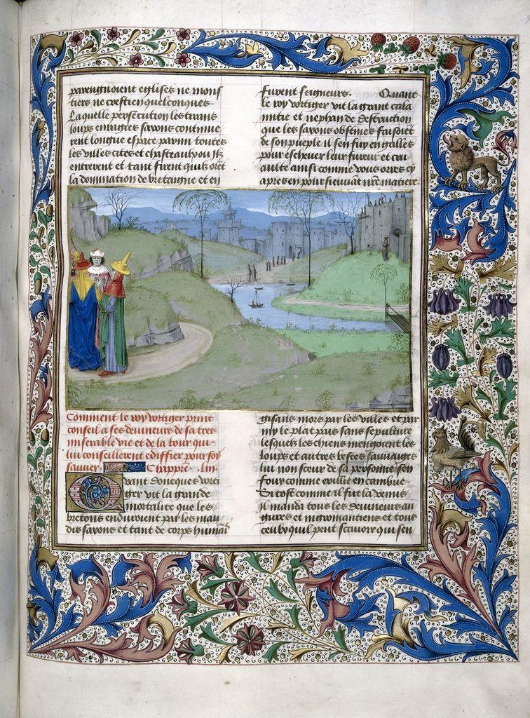 Vortigern from BL Royal 15 E IV, f. 93