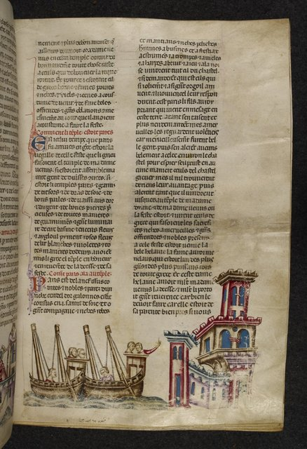 Voyage of Paris from BL Royal 20 D I, f. 47