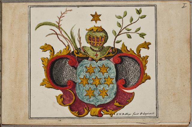 Wapenschildering / door Engelbertus van der Sluys, medicus, voor Nicolaus Buys (ca. 1734-1798), predikant