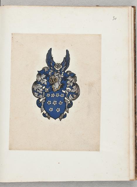 Wapenschildering / van N.N. in het album amicorum van Simon Dusing