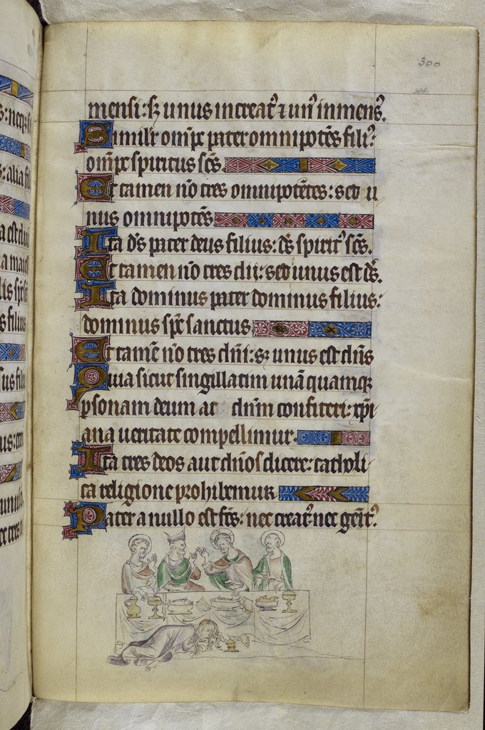 Washing of Christ's feet from BL Royal 2 B VII, f. 300