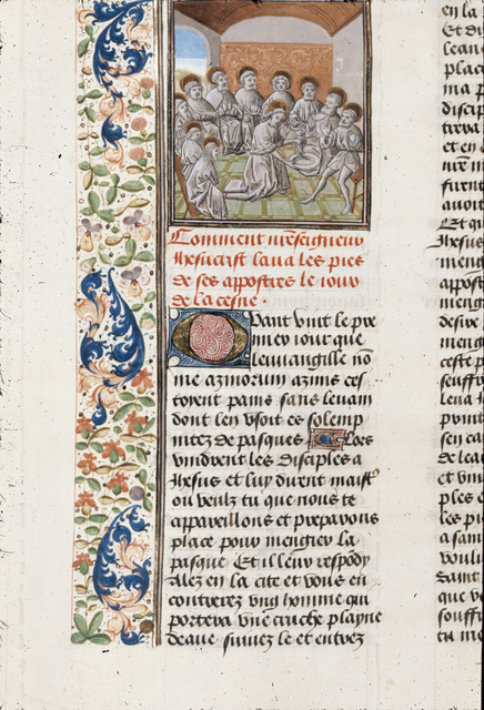 Washing of the feet from BL Royal 15 D I, f. 336v