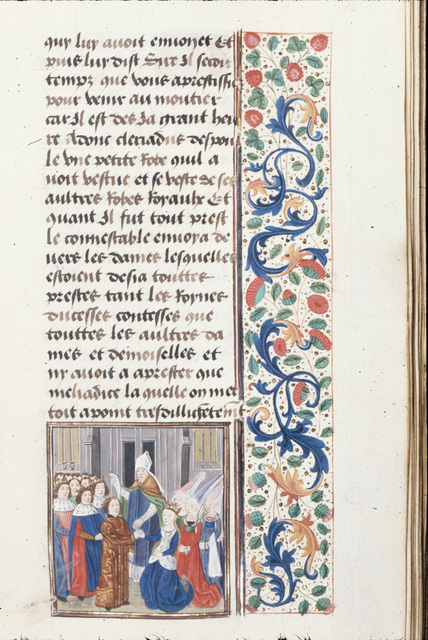Wedding of Cleridius and Meliadice from BL Royal 20 C II, f. 165
