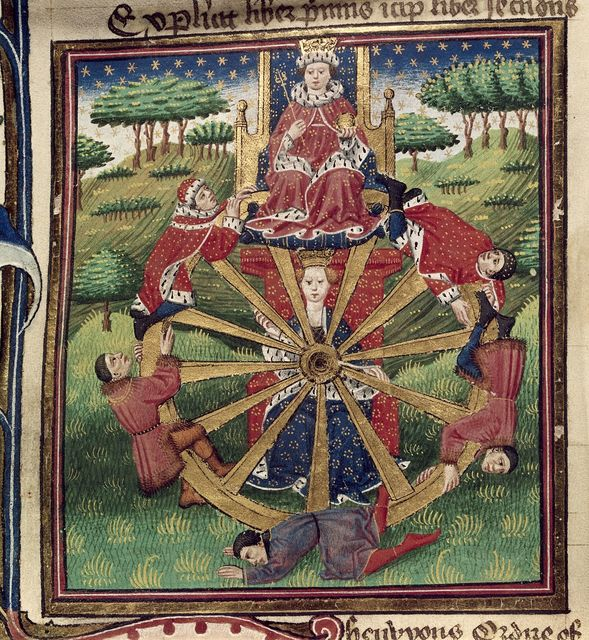 Wheel of Fortune from BL Royal 18 D II, f. 30v
