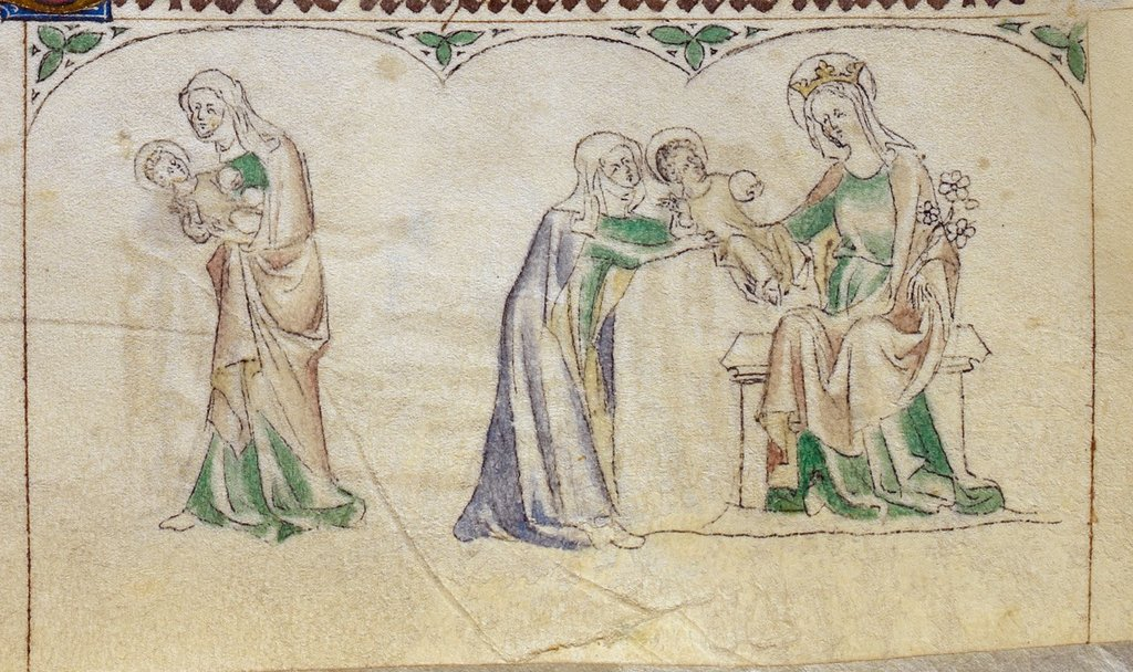 Widowed mother from BL Royal 2 B VII, f. 229v
