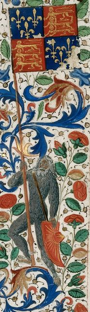 Wild man from BL Royal 15 D I, f. 18