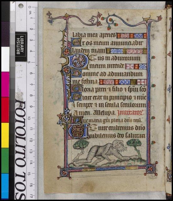 Wildman ('wodewose') from BL YT 13, f. 60v