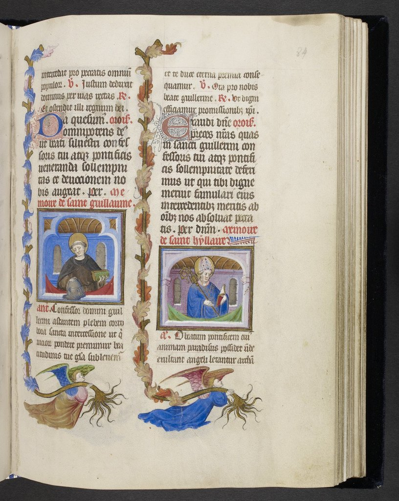 William and Hilary from BL Eg 1070, f. 84