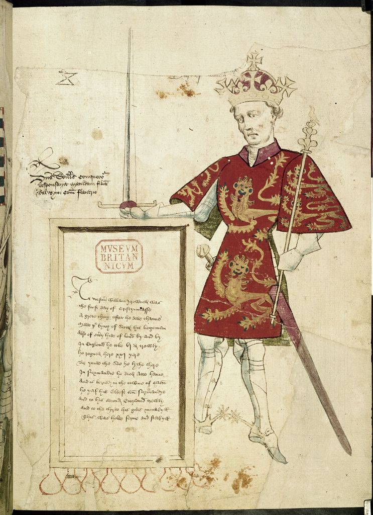 William the Conqueror from BL Harley 4205, f. 1