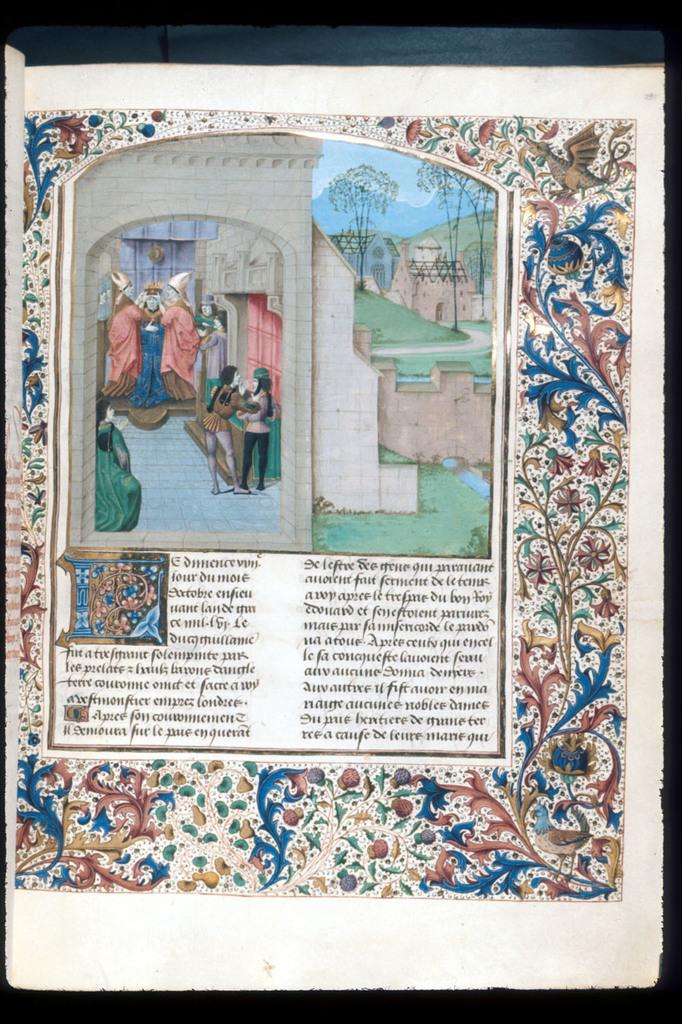 William the Conqueror from BL Royal 15 E IV, f. 236
