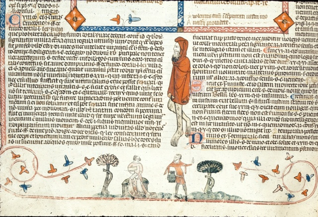Woman and man from BL Royal 10 E IV, f. 140v