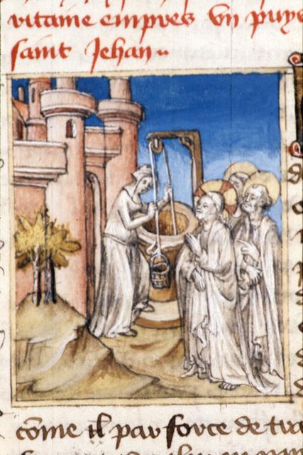 Woman of Samaria from BL Royal 20 B IV, f. 67v