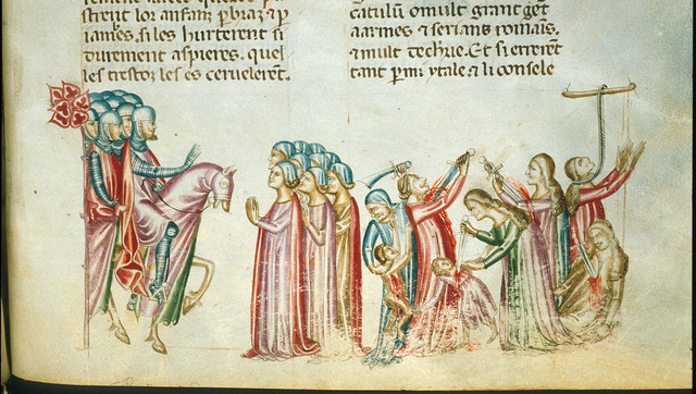 Women of Teutones from BL Royal 20 D I, f. 336