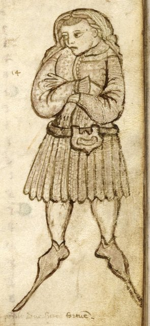 Young esquire from BL Harley 2531, f. 114