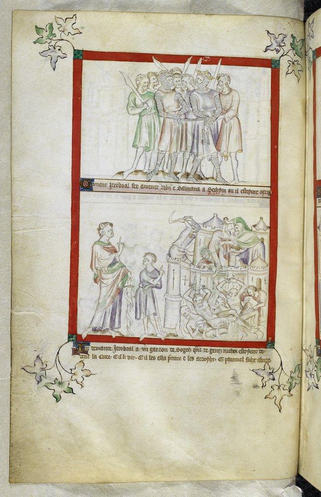 Zebah and Zalumna from BL Royal 2 B VII, f. 36v