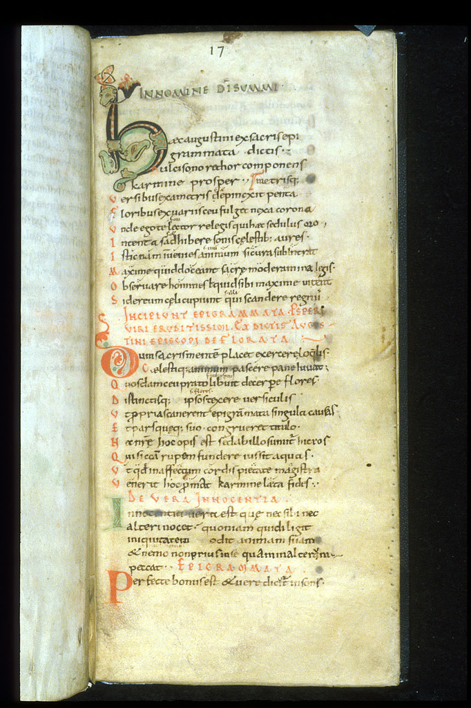 Zoomorphic initial from BL Harley 110, f. 3
