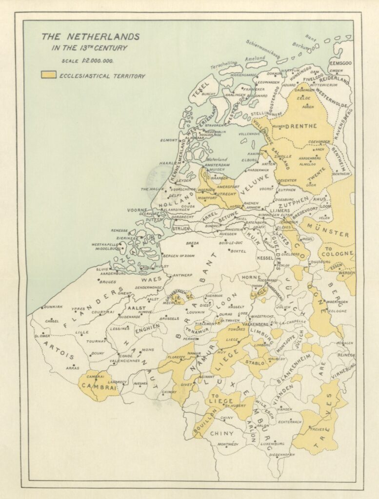 """13th century from """"History of the People of the Netherlands ... Translated by O. A. Bierstadt and Ruth Putnam"""""""