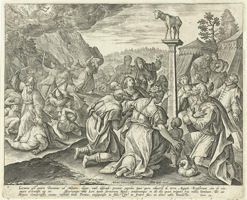 Aanbidding van het gouden kalf: het eerste Gebod