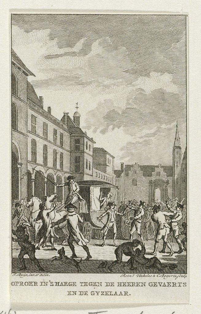 Aanslag op het rijtuig van de gedeputeerden van Dordrecht, 1786