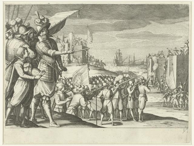 Aanval van de troepen van Ferdinando I de' Medici op twee Turkse forten