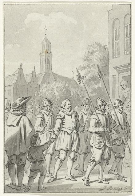 Admiraal Blois van Treslong gevangen gezet op het Gravensteen te Middelburg, 27 februari 1585
