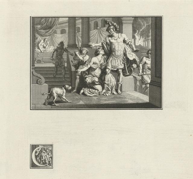 Aeneas vlucht uit het brandende Troje