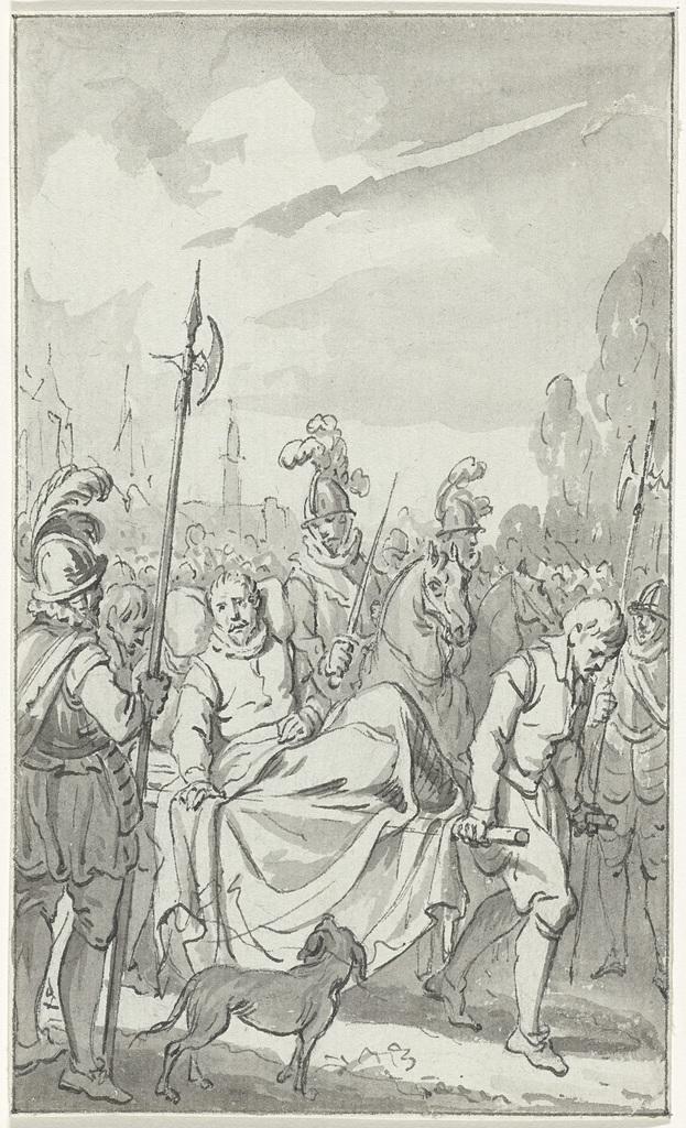 Aftocht van Lodewijk van Nassau uit Bergen op een draagbaar, 6 september 1572