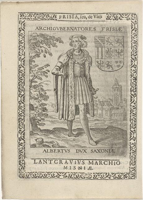 Albrecht III van Saksen, erfpotestaat van Friesland