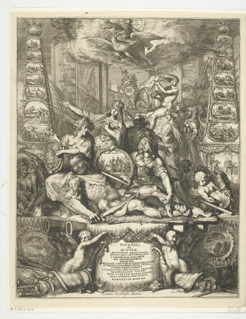 Allegorie op de dood van Michiel de Ruyter, 1676