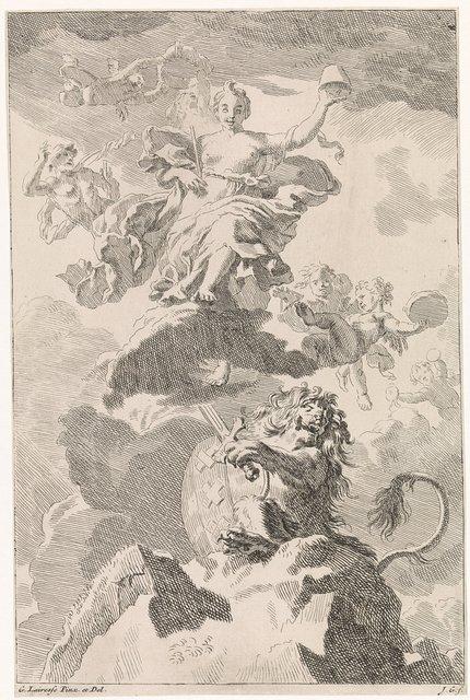 Allegorie op de vrije handel: de Bataafse leeuw